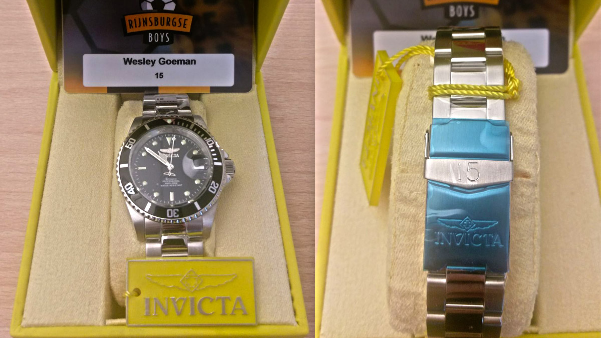 Invicta horloges voor hele team